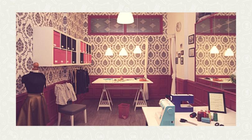 interior del taller de costura de alfa en bilbao